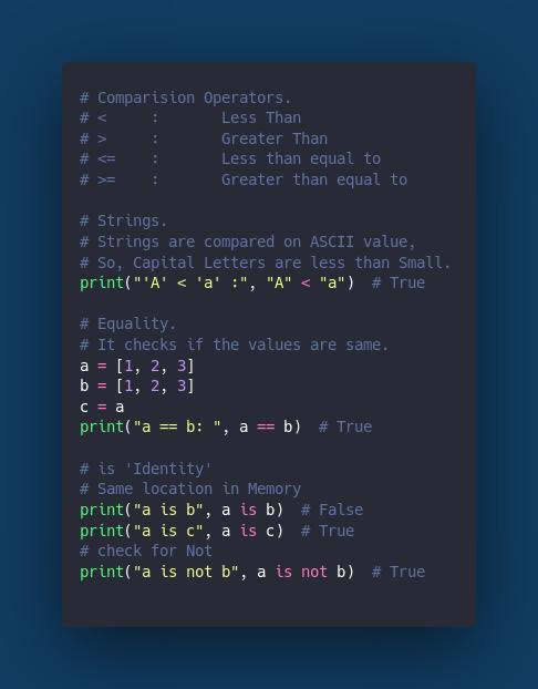 Comparison Operator.