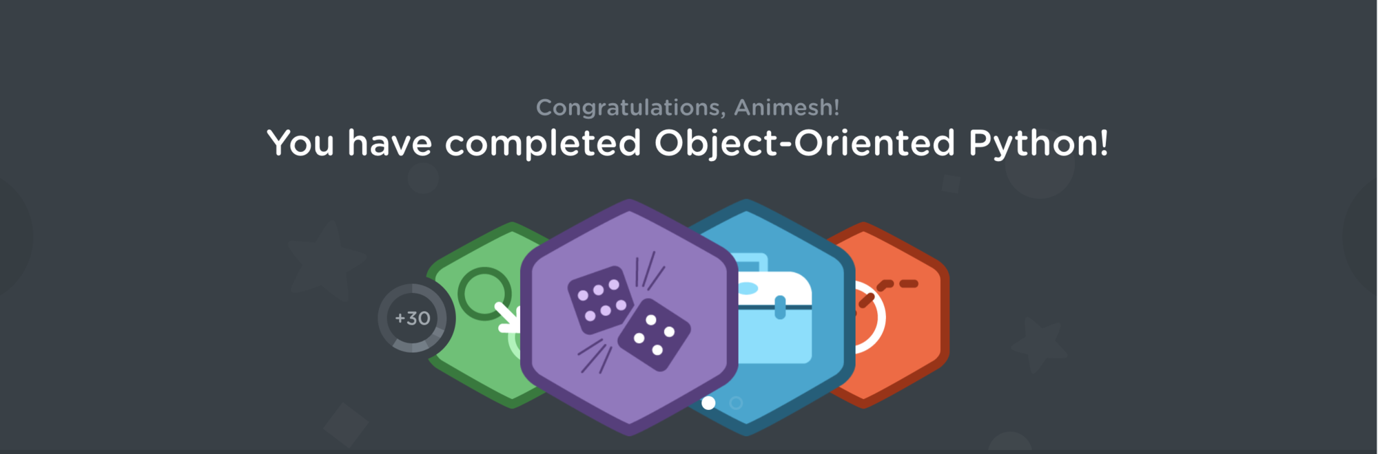 Object Oriented Python Badge.