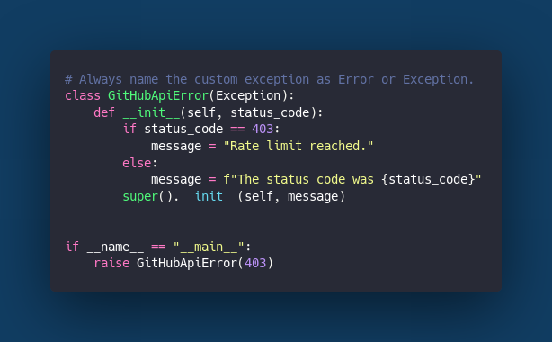 Custom Exceptions Application