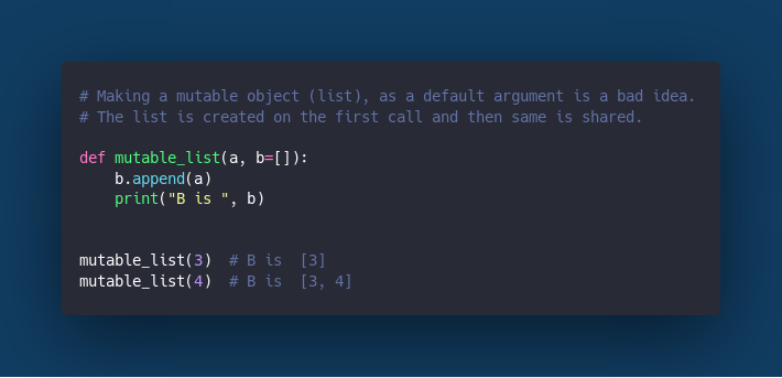 List as a function argument.