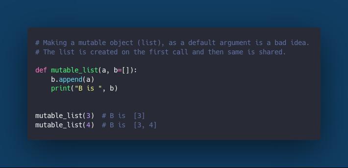 List as a function argument.