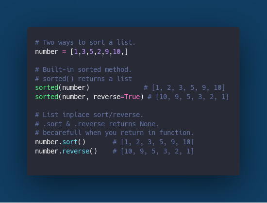 sorted() and built-in sort