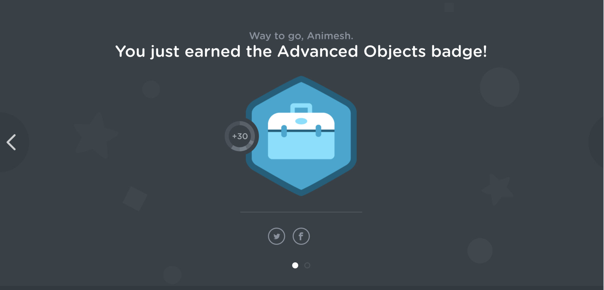 Advance Object TreeHouse Badge.