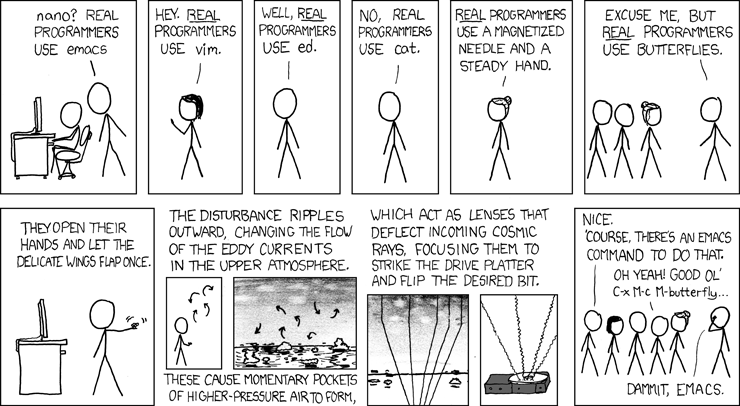 Real Programmers xkcd