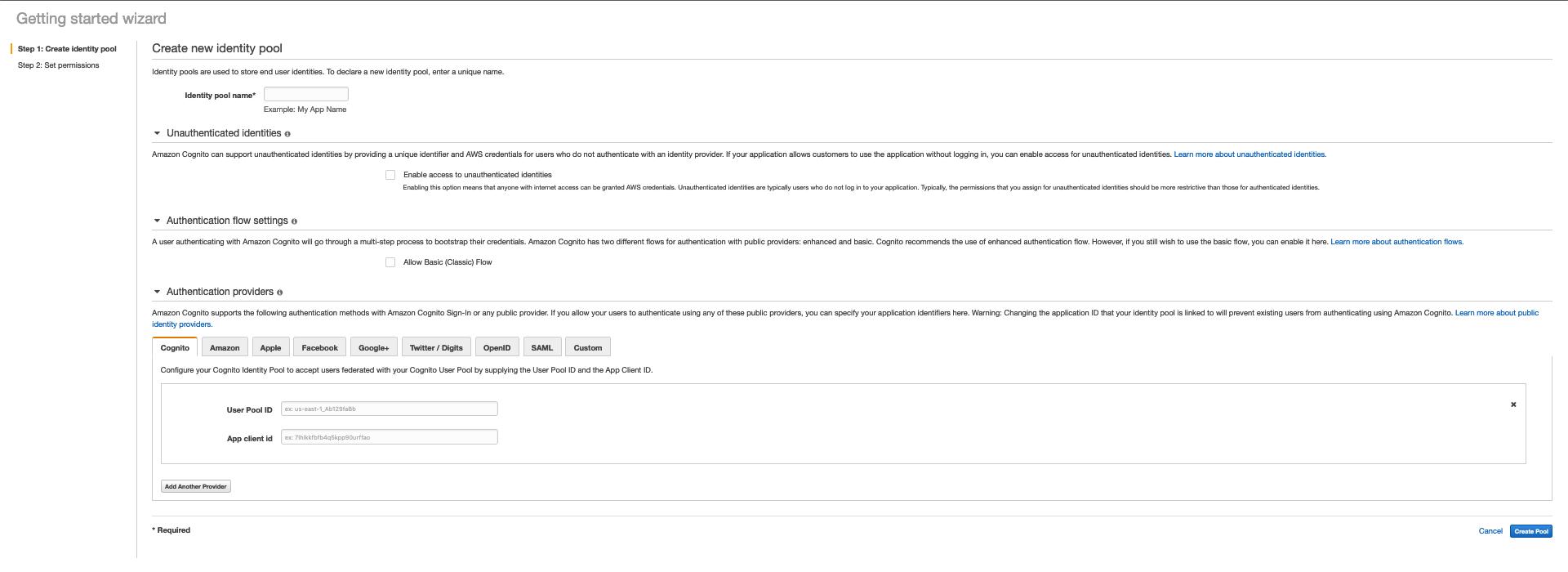 AWS Made Easy AWS Cognito Identity pool configure