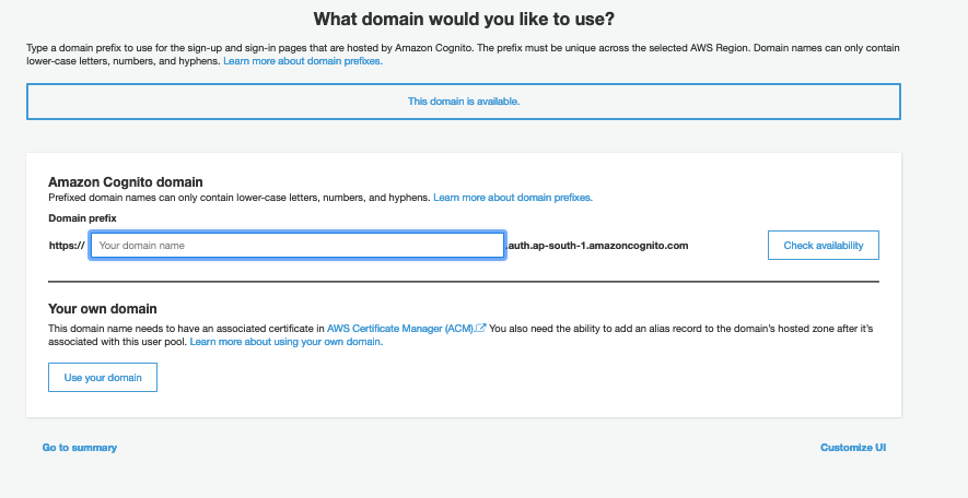 AWS Made Easy AWS Cognito User Pool Add Domain