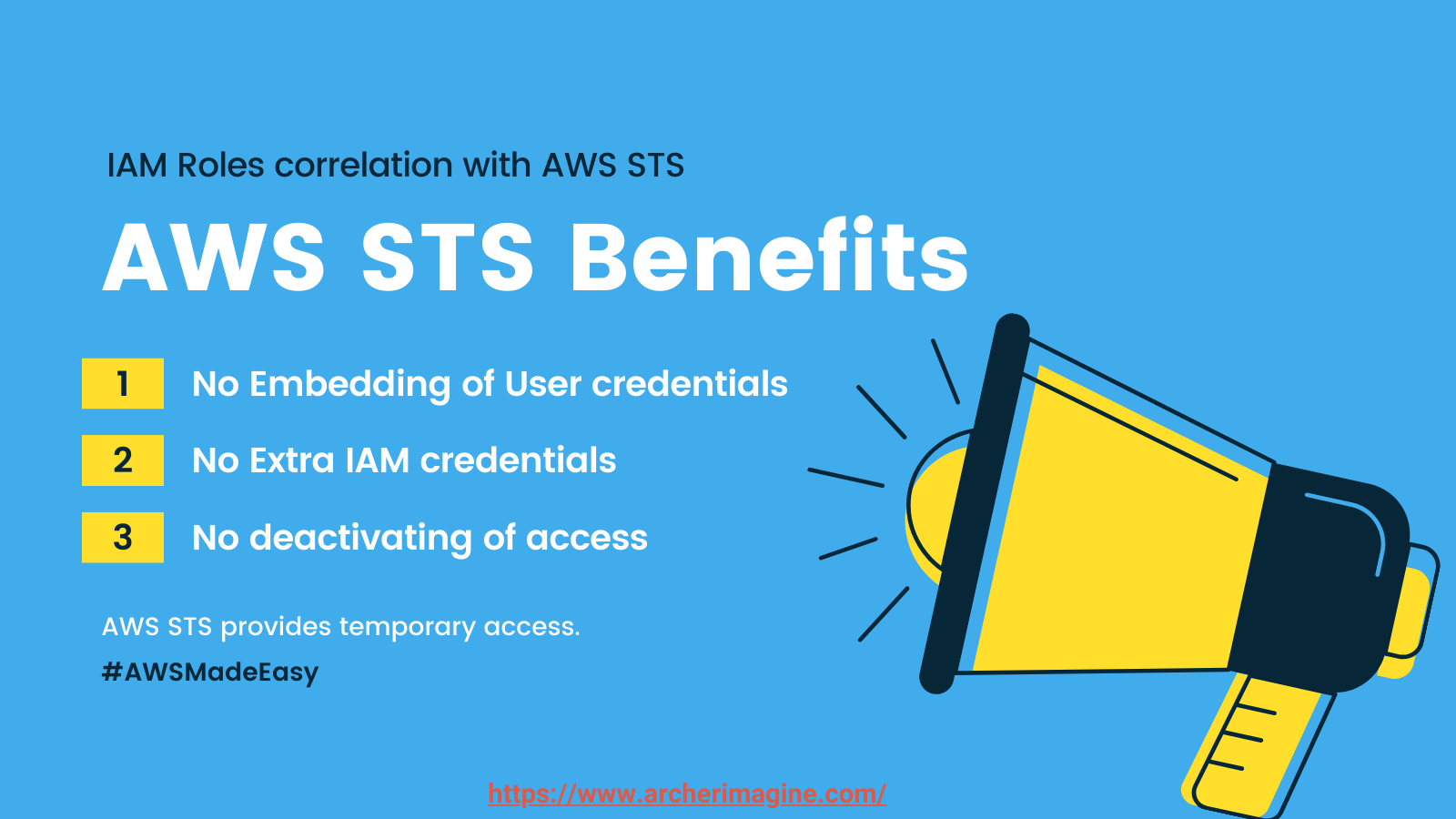AWS Made Easy | AWS STS, Benefits