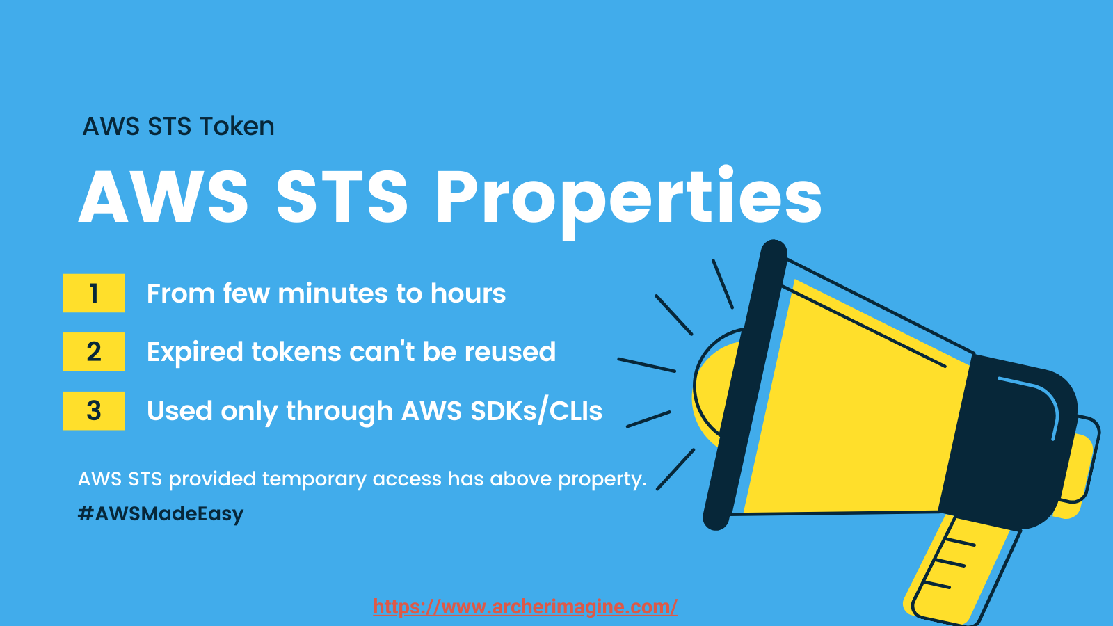 AWS Made Easy | AWS STS, Properties