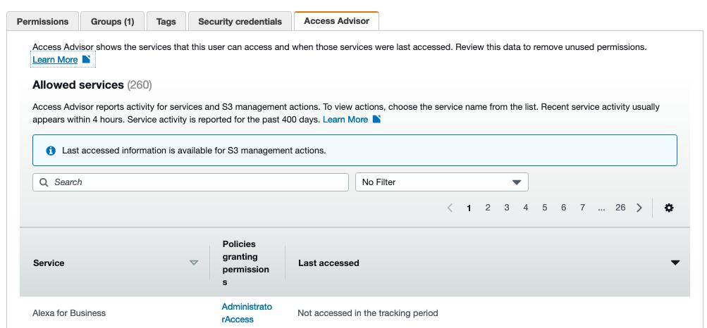 AWS Made Easy | IAM Users Access Advisor