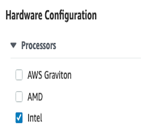 AWS Made Easy - AWS EC2 - Hardware configuration