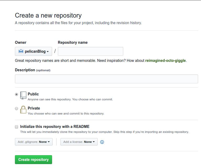 Create repo